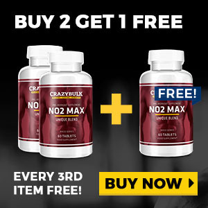 Crazy Bulk Canada NO2 MAX buy 2 get 1 free